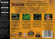 Scan of back side of box of Tarzan