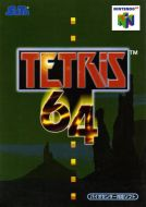 Scan of front side of box of Tetris 64