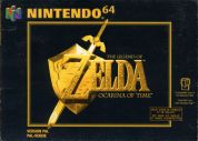 Scan of front side of box of The Legend Of Zelda: Ocarina Of Time
