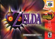 Scan of front side of box of The Legend Of Zelda: Majora's Mask