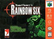 Scan of front side of box of Tom Clancy's Rainbow Six - Second print
