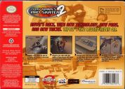 Scan of back side of box of Tony Hawk's Pro Skater 2