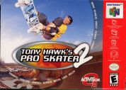 Scan of front side of box of Tony Hawk's Pro Skater 2