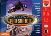 Scan of front side of box of Tony Hawk's Pro Skater