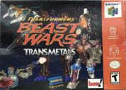 Scan of front side of box of Transformers: Beast Wars Transmetals - Blockbuster Exclusive