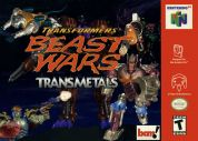 Scan of front side of box of Transformers: Beast Wars Transmetals