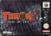 Scan of front side of box of Turok 2: Seeds Of Evil