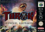 Scan of front side of box of Turok: Rage Wars
