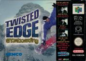 Scan of front side of box of Twisted Edge Snowboarding