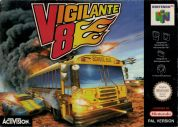 Scan of front side of box of Vigilante 8