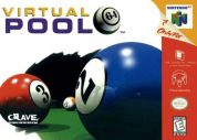 Scan of front side of box of Virtual Pool 64