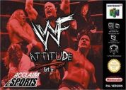 Scan of front side of box of WWF Attitude