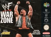 Scan of front side of box of WWF War Zone