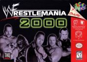 Scan of front side of box of WWF Wrestlemania 2000