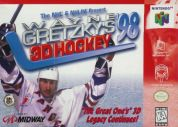 Scan of front side of box of Wayne Gretzky's 3D Hockey '98