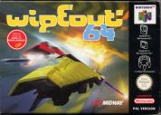 Scan of front side of box of WipeOut 64