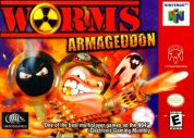 Scan of front side of box of Worms Armageddon
