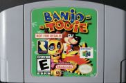 Scan of cartridge of Banjo-Tooie - Not For Resale