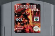 Scan of cartridge of Carmageddon 64