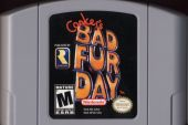 Scan of cartridge of Conker's Bad Fur Day