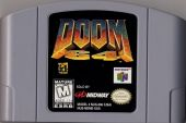 Scan of cartridge of Doom 64