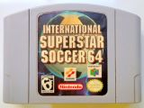 Scan of cartridge of International Superstar Soccer 64