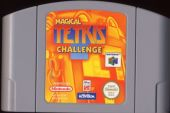 Scan of cartridge of Magical Tetris Challenge