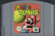 Scan of cartridge of Mario Tennis