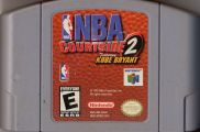 Scan of cartridge of NBA Courtside 2 featuring Kobe Bryant