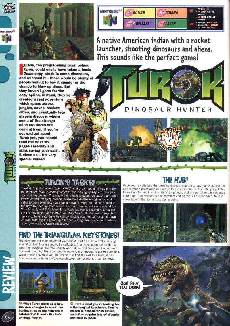 nintendo64ever the tests of turok dinosaur hunter game on nintendo 64