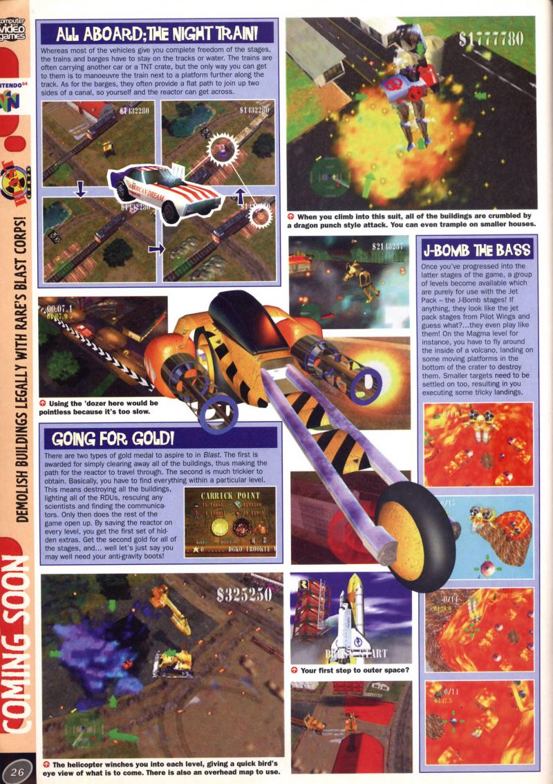 Nintendo64EVER - Previews of the game Blast Corps on Nintendo 64