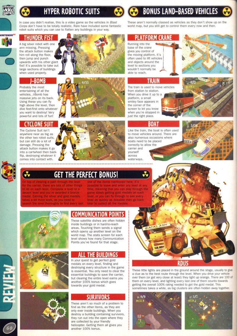 Nintendo64EVER - Les tests du jeu Blast Corps sur Nintendo 64