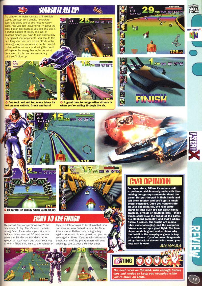 Nintendo64EVER - The tests of F-Zero X game on Nintendo 64