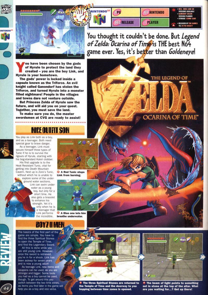 Nintendo64EVER - The tests of The Legend Of Zelda: Ocarina