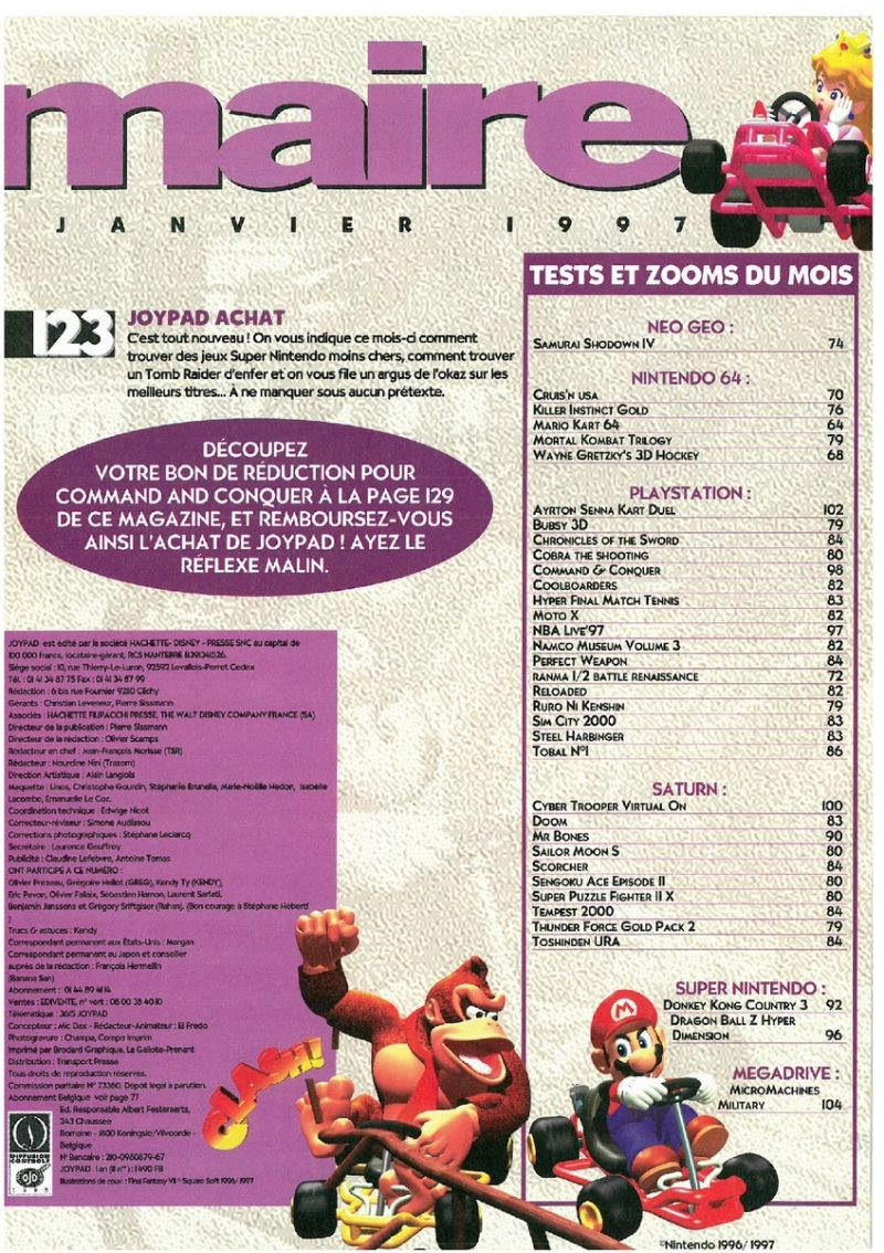 Nintendo64EVER - The Joypad 060 magazine content