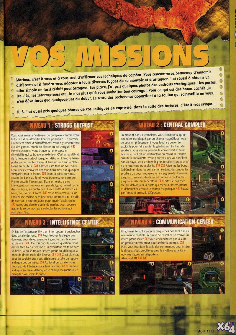Nintendo64EVER - The walkthroughs for the game Quake II on