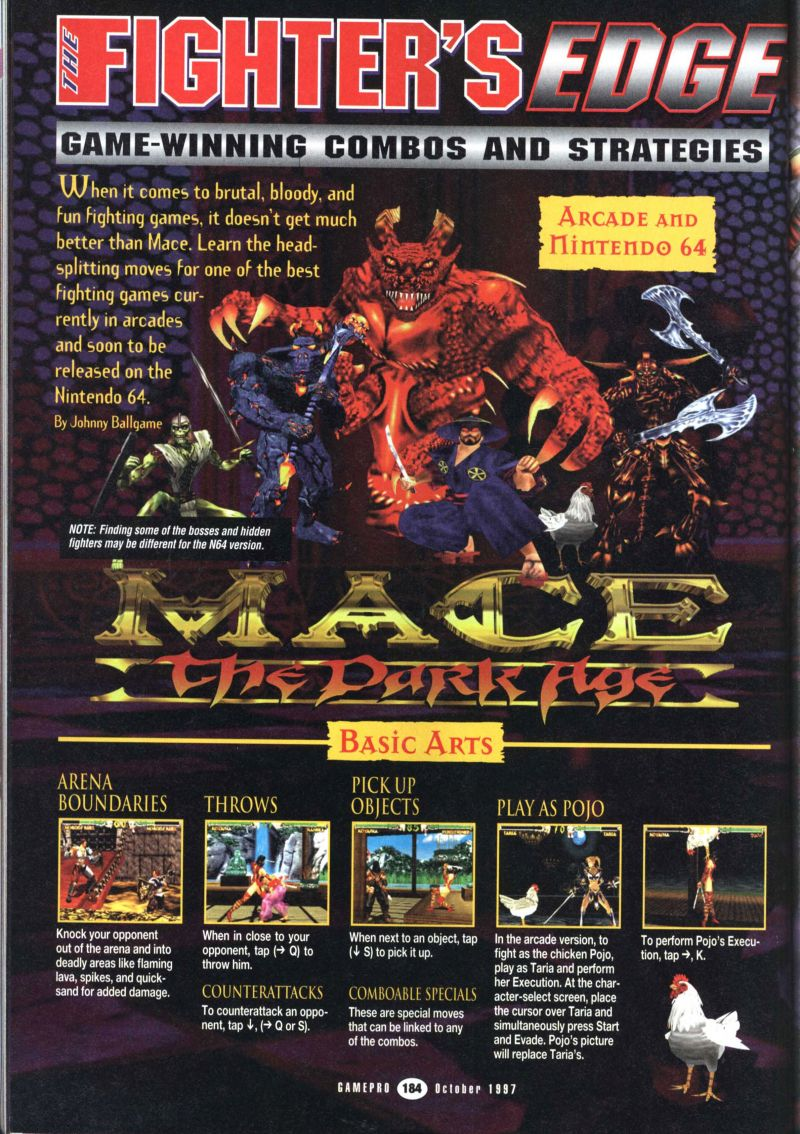Nintendo64ever The Walkthroughs For The Game Mace The