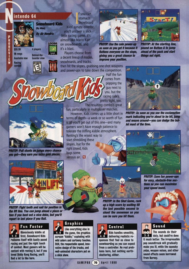 Nintendo64EVER - The tests of Snowboard Kids game on Nintendo 64