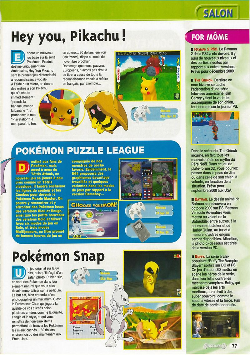 Nintendo64EVER - Previews of the game Pokemon Snap on