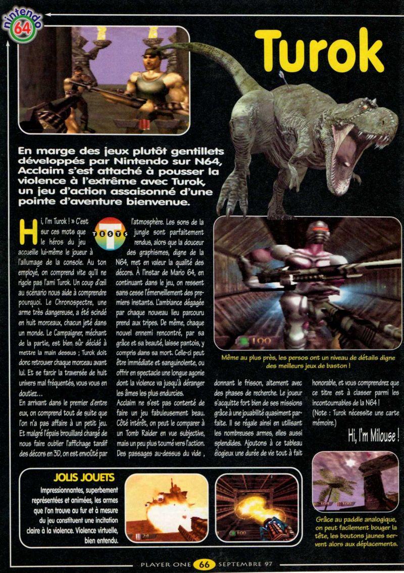Nintendo64EVER - The tests of Turok: Dinosaur Hunter game on Nintendo 64