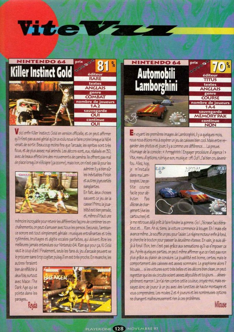 Nintendo64ever The Tests Of Automobili Lamborghini Game On Nintendo 64