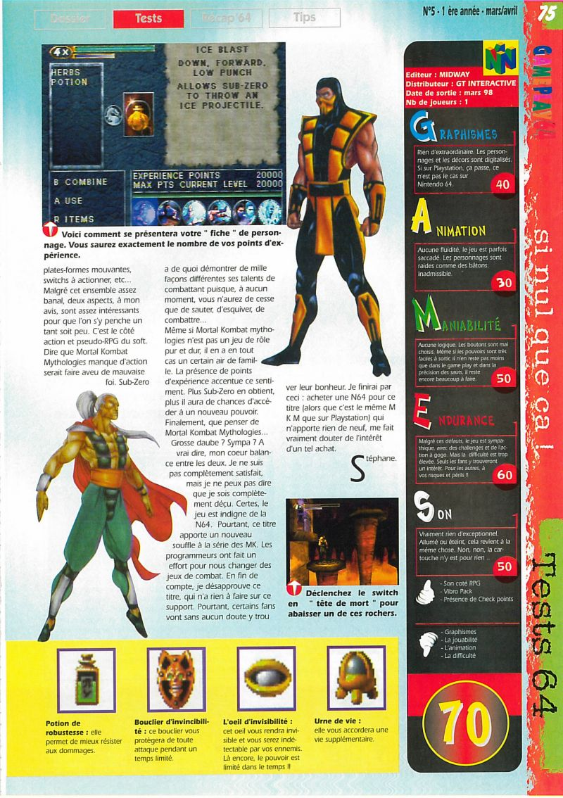 Nintendo64EVER - The tests of Mortal Kombat Mythologies: Sub