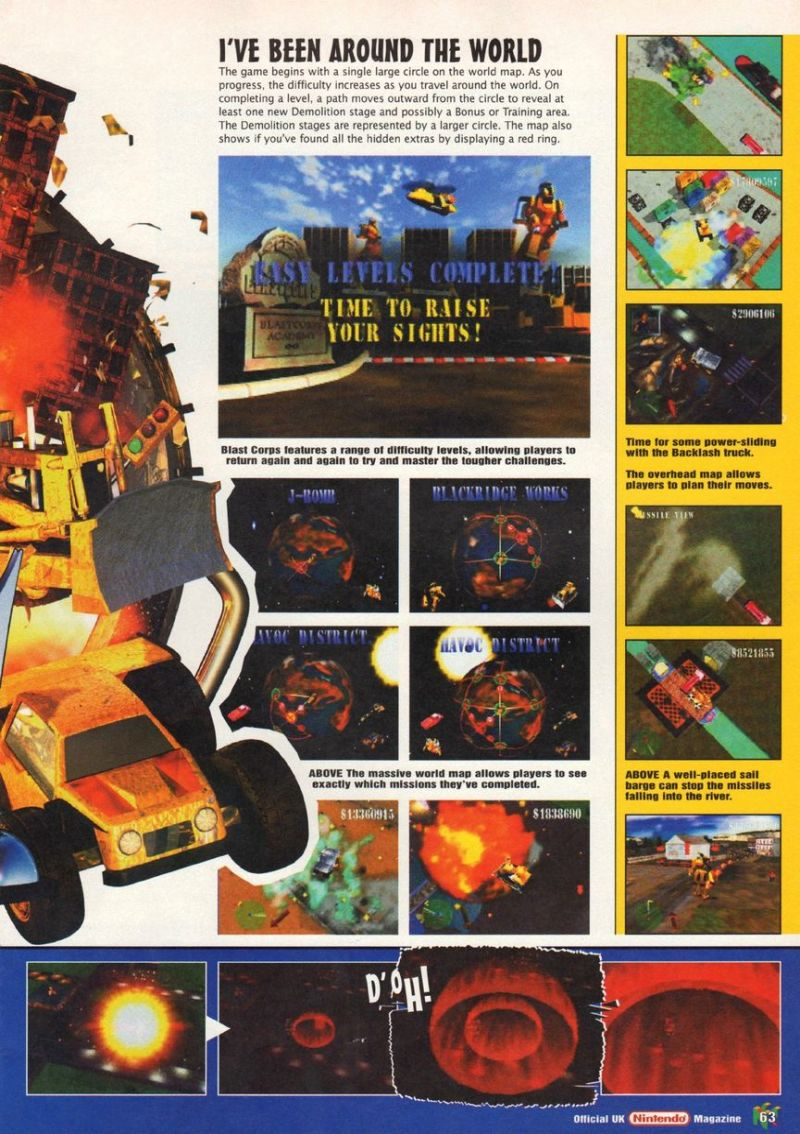 Nintendo64EVER - The tests of Blast Corps game on Nintendo 64