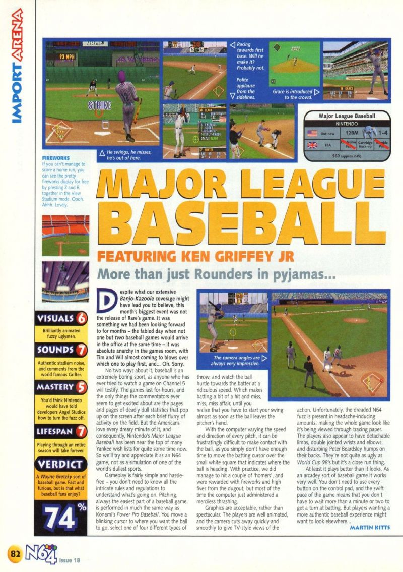 caa3c9f93f Scan of the review of Major League Baseball Featuring Ken Griffey, Jr.  published in