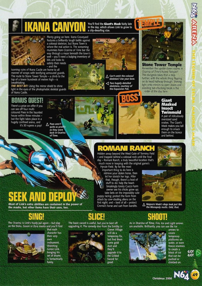 Nintendo64ever The Tests Of Legend Zelda Majoras Mask Snake Skeleton Diagram Labeled Scan Review Published In Magazine
