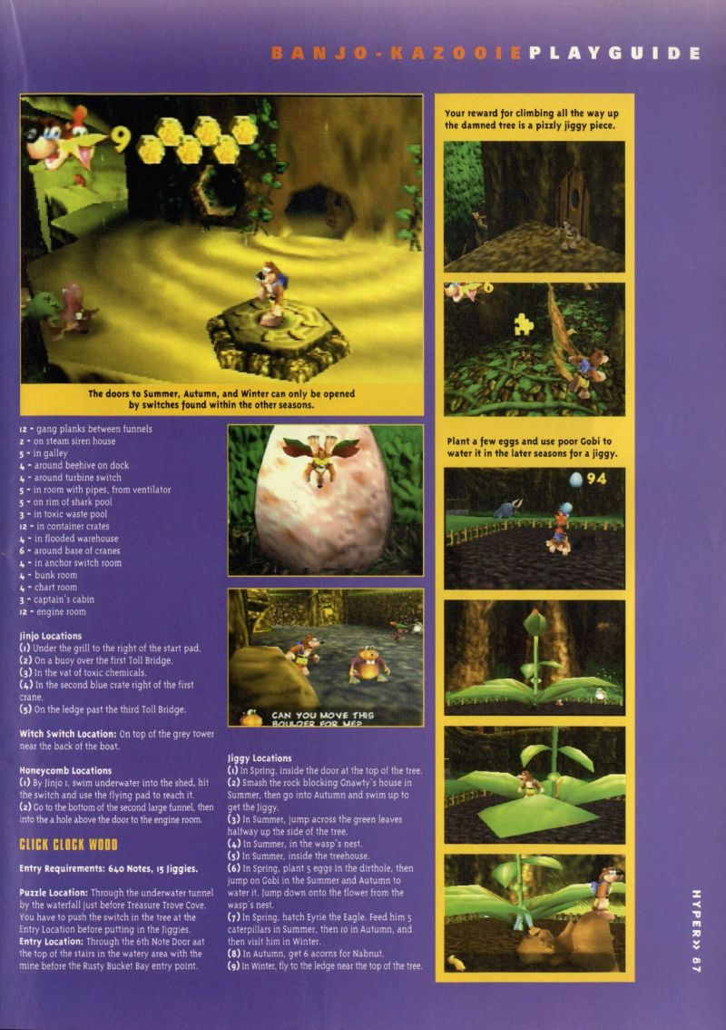 Nintendo64EVER - The walkthroughs for the game Banjo-Kazooie