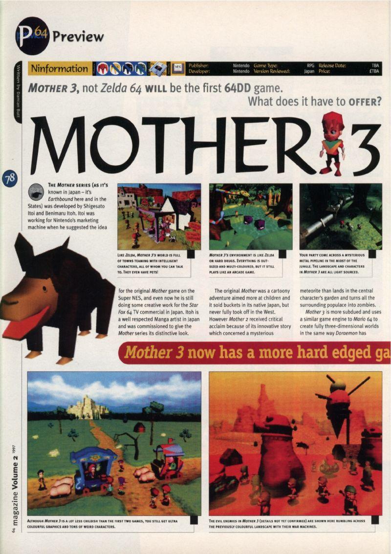Nintendo64EVER - Previews of the game Earthbound 64 on Nintendo 64