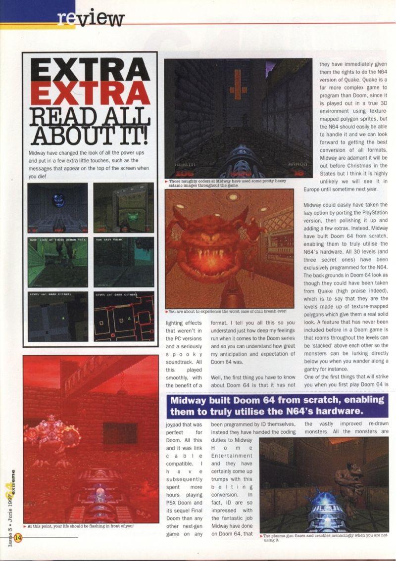 Nintendo64EVER - The tests of Doom 64 game on Nintendo 64
