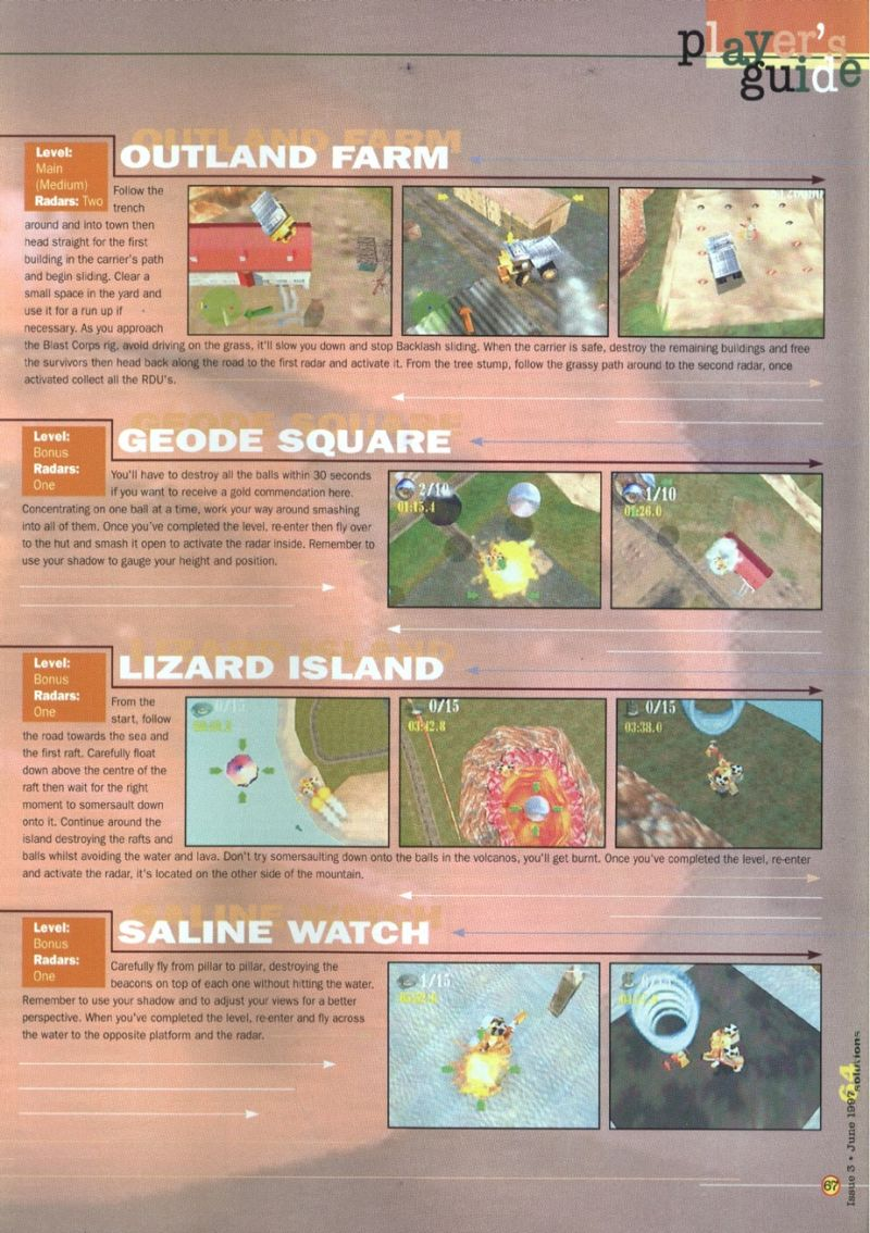Nintendo64EVER - The walkthroughs for the game Blast Corps on
