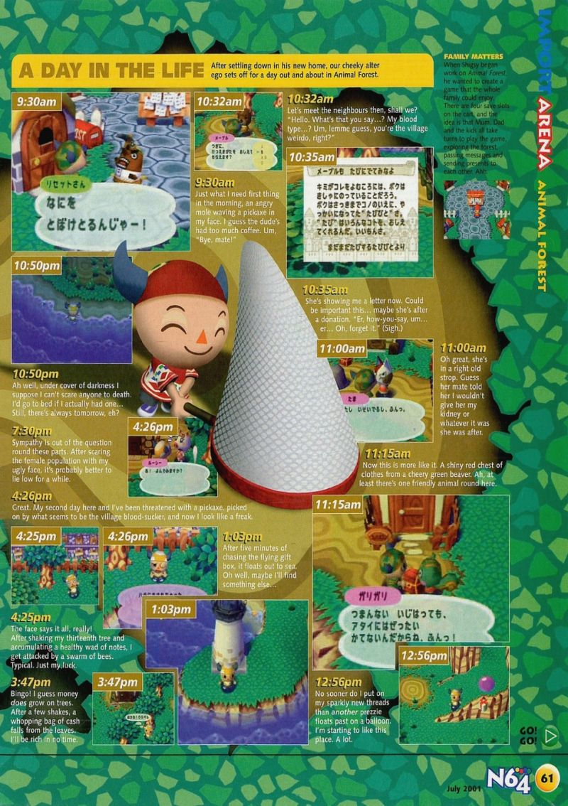Nintendo64ever the tests of doubutsu no mori game on nintendo 64 scan of the review of doubutsu no mori published in the magazine n64 56 ccuart Gallery